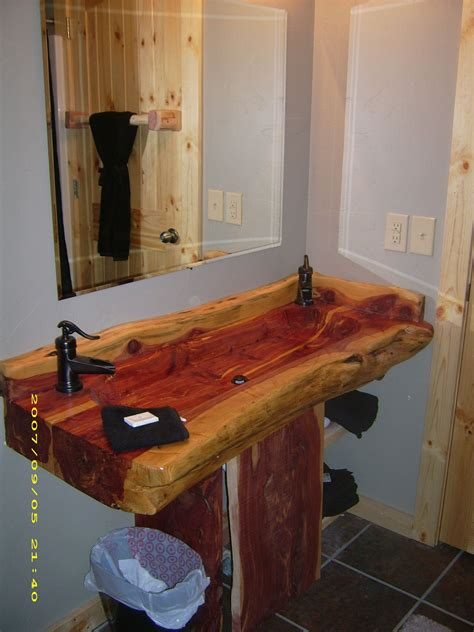Wooden Bathroom Sink Cabinets by Pin By Thompson On Rustic Bathroom Decor Ideas