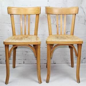 Chaise Bistrot Vintage : chaise bistrot emile baumann estampill bois industriel design vintage ~ Teatrodelosmanantiales.com Idées de Décoration
