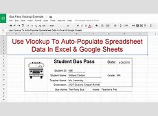 Tutorial on How to Use Vlookup to Auto Populate