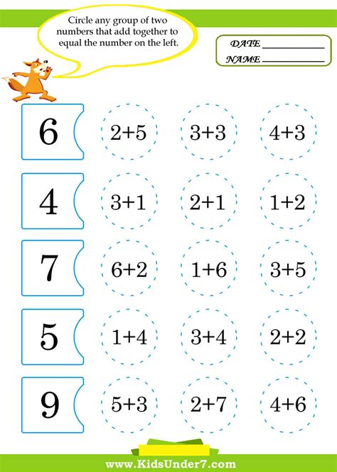 Kids Math Printable Worksheets Worksheet Mogenk Paper Works