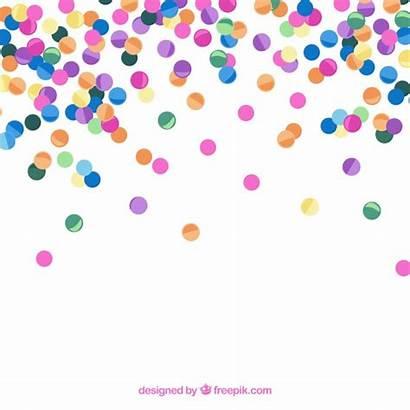 Confetti Background Colorful Vector Flat Freepik Glitter