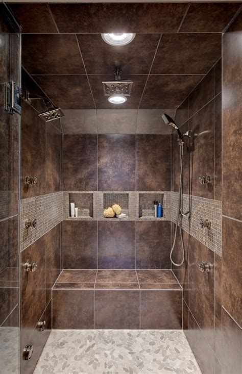 stand up shower designs Bathroom Contemporary with bath