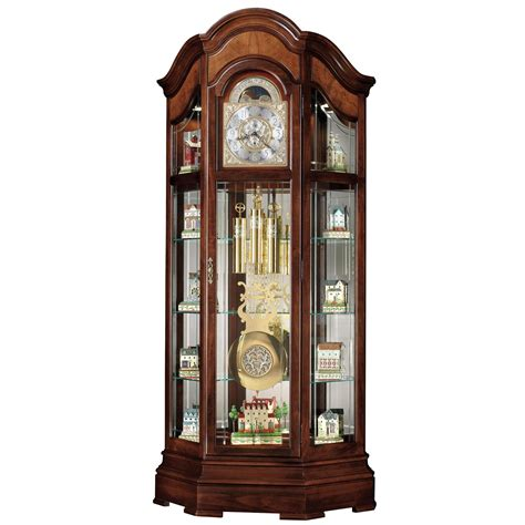 grandfather clock curio cabinet howard miller majestic curio grandfather clock curio