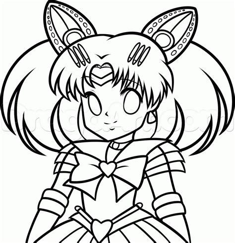 draw sailor chibi moon step  step anime
