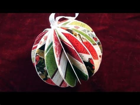 paper ball christmas ornament youtube