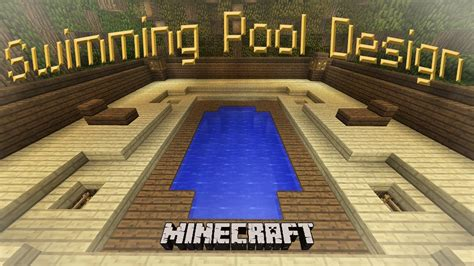 minecraft     cool swimming pool design youtube
