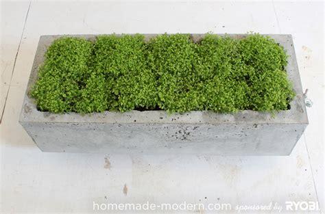 Diy Concrete Planters by Homemade Modern Ep16 Concrete Planter