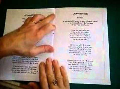 exemple d un livret de messe