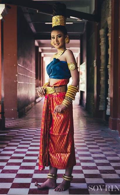 Traditional Cambodia Clothes Woman Uploaded Asian
