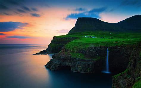 Faroe Islands Vagar Gasadalur Wallpapers - 1920x1200 - 407580