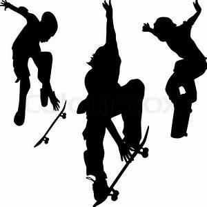Skater Silhouette Vektor   Vektorgrafik   Colourbox