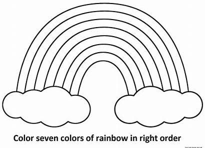Coloring Rainbows Preschool Rainbow Pot