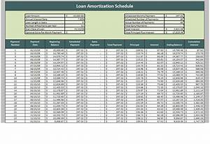 loan amortization worksheet With monthly amortization schedule excel template