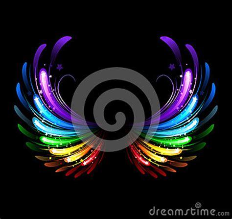 rainbow wings stock image image