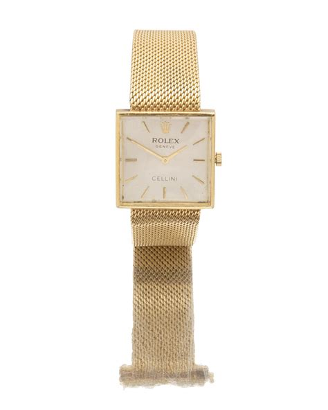 Lot - A Rolex Cellini gold wrist watch