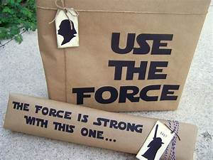 Star Wars Diy : diy silhouette gift wrapping for the star wars fan from i see your ~ Orissabook.com Haus und Dekorationen