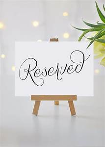 Reserved, Signs, For, Wedding, Reserved, Table, Sign, Printable