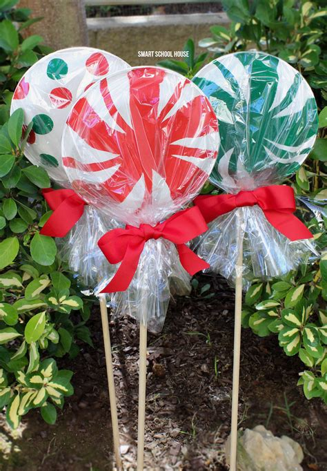 giant paper plate lollipops smart school house