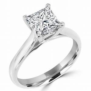square diamond rings in 14k white gold 1 1 10 ct solitaire With square cut diamond wedding rings
