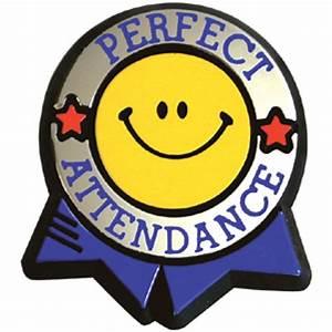 Perfect Attendance Colorful Pin - Jones School Supply
