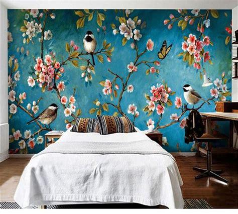 photo wallpaper  stereo chinese flowers birds mural