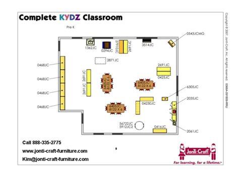 pre  classroom design furniture equipment list