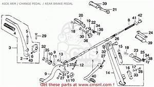 Honda Mt250 Elsinore 1975 K1 Usa Kick Arm    Change Pedal
