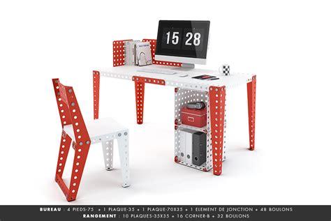 bureau en kit meccano home nouvelle marque de mobilier en kit inspirée des meccano my eco design