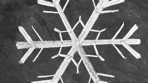 draw simple snowflake chalk art martha stewart