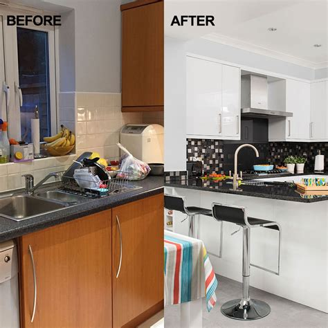 Kitchen Before And After by Before And After Take A Look At This Kitchen Extension