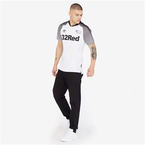 Umbro Derby County 19/20 Home Shirt SS - Brilliant White ...