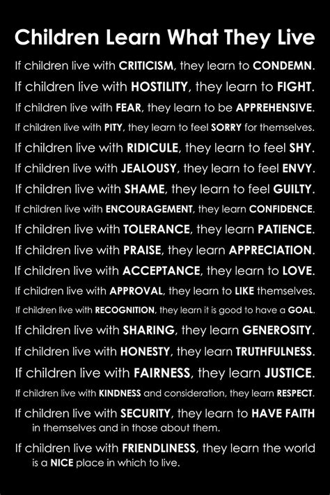 children learn what they live poem by dorothy by 878 | il fullxfull.283620907