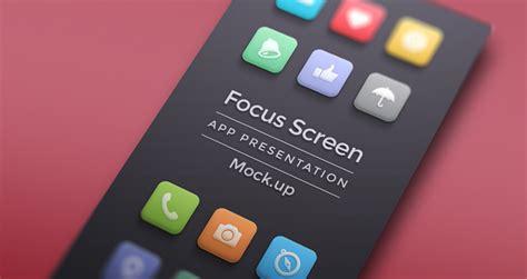focus app screen mock  psd mock  templates pixeden