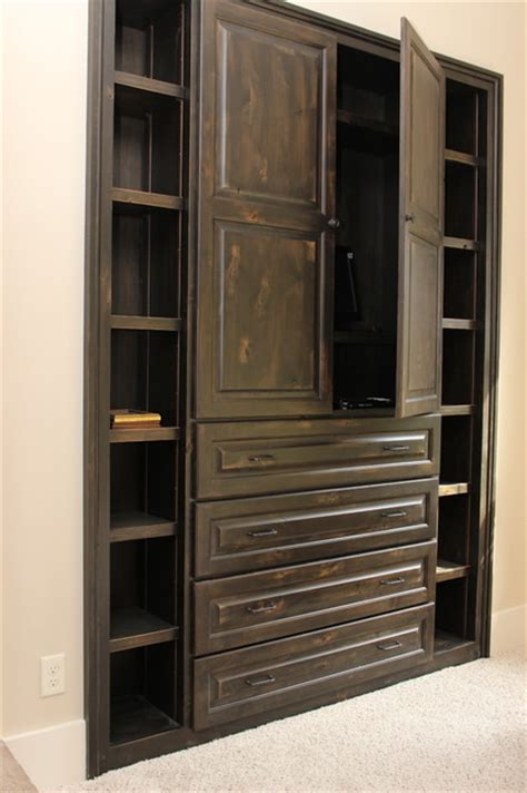 distressed kitchen cabinets built in cabinets rustic bedroom atlanta by 6790