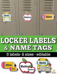 30 classroom organization ideas and free printables for Locker tag templates