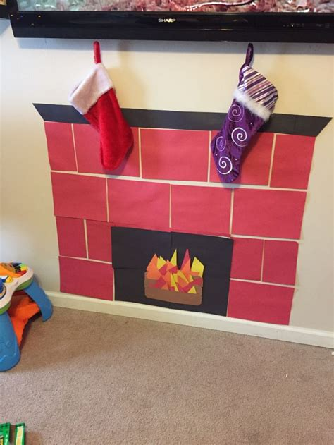 construction paper fireplace holidays pinterest
