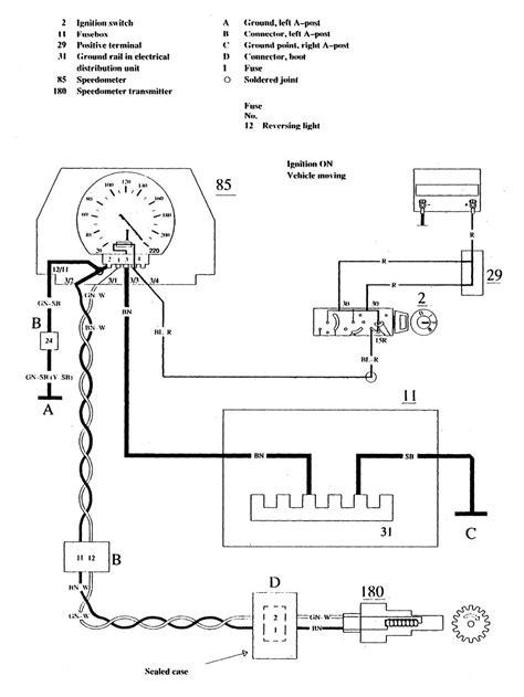 volvo 740 1990 wiring diagrams instrumentation