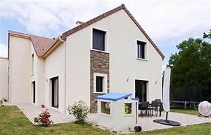 Maison Contemporaine Asym U00e9trique Pierre Parement  Yvelines Beynes
