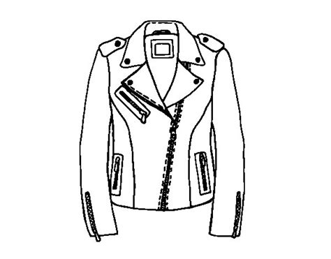 Coloring Leather by Leather Jacket Coloring Page Coloringcrew