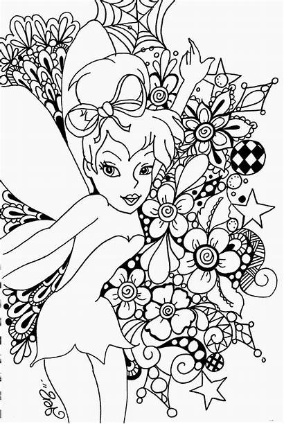Tinkerbell Coloring Pages Printable Clip Tinker Disney