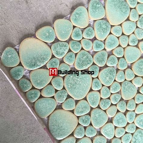 pebble mosaic tile green porcelain wall tiles pebble mosaic ppmt044 pebble flooring tiles porcelain pebble mosaic