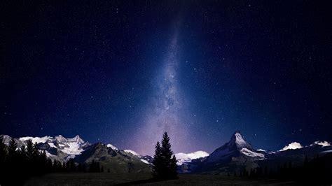 Landscape Milky Way Mountain Stars Wallpapers Hd
