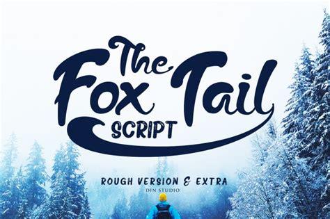 fox tail script font befontscom