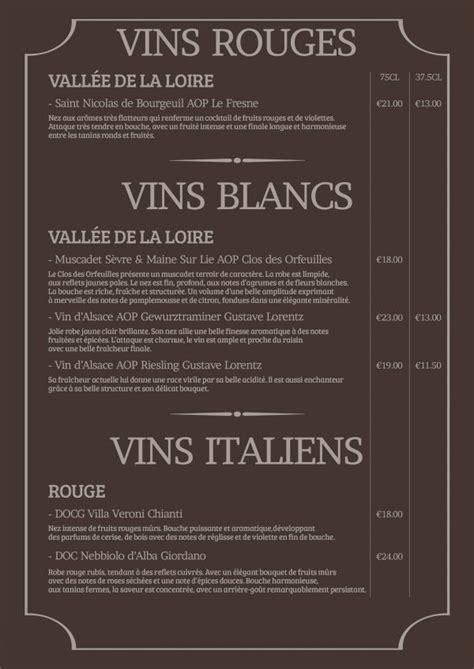 Carte Des Vins Boissons by Constituer Sa Carte Des Vins Les 233 Indispensables