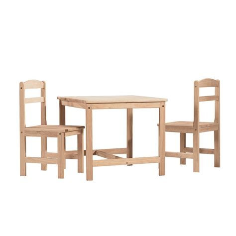cars 3 piece table and chair set international concepts 3 piece unfinished children 39 s table