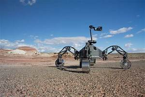 A new Mars rover was tested out in the rough terrain of ...