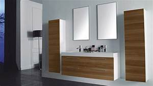 Meuble salle de bain doubles vasques ortense for Salle de bain design avec ensemble meuble lavabo