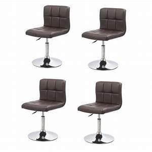 lot de 4 chaises de salle a manger cuisine simili cuir With deco cuisine avec chaises salle À manger simili cuir