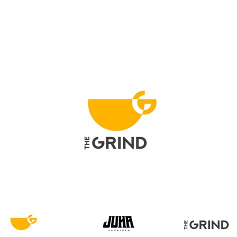 """Brandmark is combined with a flat nib connecting script font. Daily logo challenge 02 """"The Grind"""" coffee shop : logodesign"""