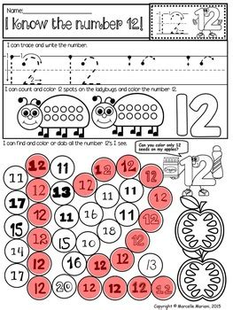 math numbers   practice worksheets trace write dab